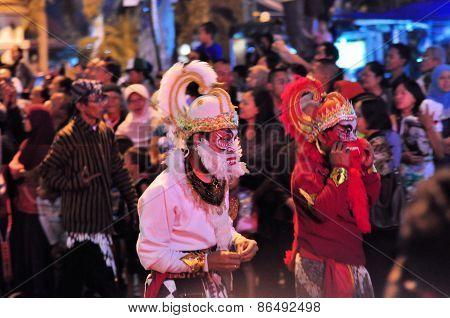 Hanuman Hindu Monkey God, Yogyakarta city festival parade