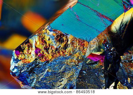 Titanium rainbow aura quartz crystal cluster stone