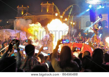 Stage show at the end of Yogyakarta city festival parade