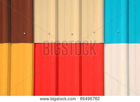 Multicolor Galvanize Wall Pattern