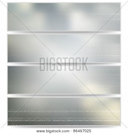 Abstract unfocused natural headers, blurred design vector