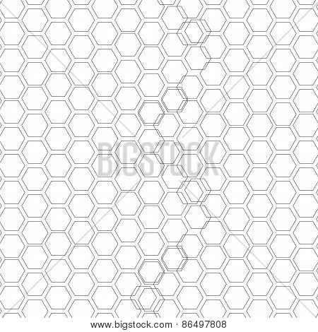 Hexagonal seamless pattern. Repeating geometric background with overlapped hexagons