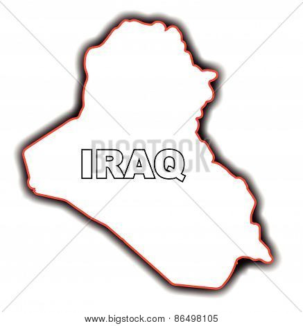 Outline Map Of Iraq