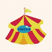 pic of circus tent  - circus tents theme elements - JPG