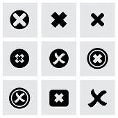 image of rejection  - Vector rejected icon set on grey background - JPG
