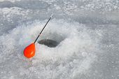 Постер, плакат: Winter fishing Ice fishing