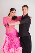 image of  dancer  - Ballroom dancers dancing - JPG