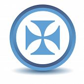 image of crusader  - Blue Crusaders icon on a white background - JPG