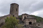 stock photo of bohemia  - Medieval Strekov Castle in North Bohemia Czech Republic - JPG