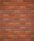 stock photo of brick block  - wall of red brick seamless background vector illustration - JPG