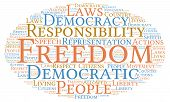 picture of freedom speech  - Freedom word cloud on a white background - JPG