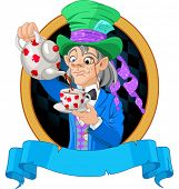 picture of alice wonderland  - Mad Hatter pours tea design - JPG