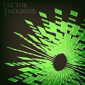 stock photo of divergent  - Abstract divergent 3d stripes blast background eps 10 vector illustration - JPG