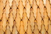 picture of shingles  - Wooden shingle surface for background or texture - JPG