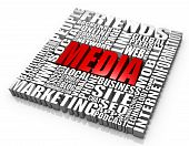 stock photo of  media  - Group of media related words - JPG