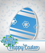 stock photo of forget me not  - Easter card - JPG