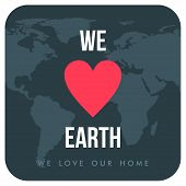 stock photo of earth  - Vintage Earth Day Celebrating Card or Poster Design - JPG