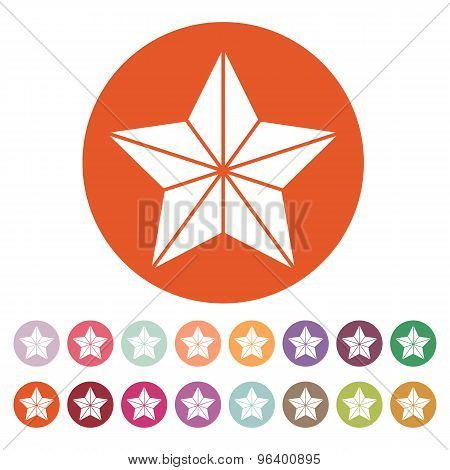 The star icon. Best and favorite, quality symbol. Flat
