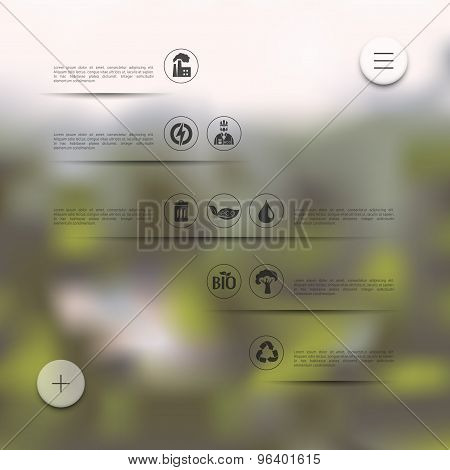 ecology infographic with unfocused background