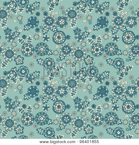cute flowers seamless pattern. Vector retro background