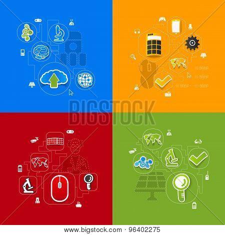 technology sticker infographic