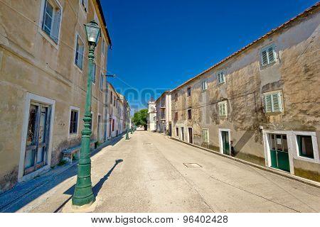 Main Street Of Benkovac Town