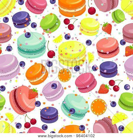 Macaroons seamless pattern