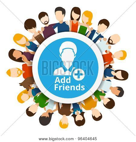 Add friends to social network