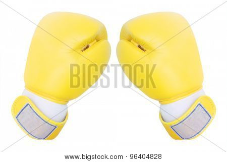 boxing gloves under the white background
