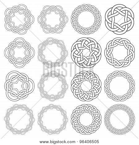 Set of celtic knotting ring