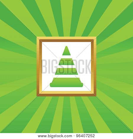 Traffic cone picture icon