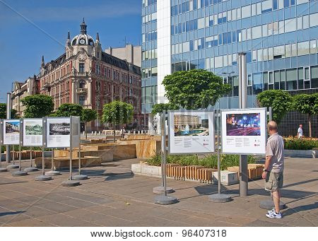 Katowice, Poland - July 19, 2015: The Main Square In The City Ce
