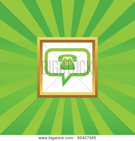 Phone message picture icon