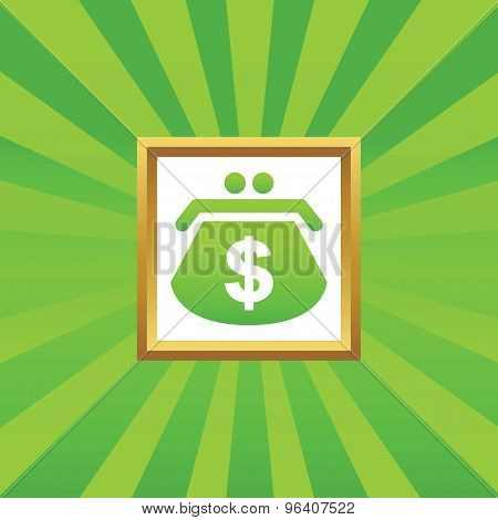 Dollar purse picture icon