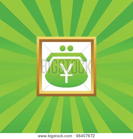 Yen purse picture icon