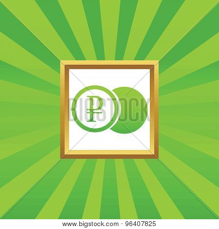 Ruble coin picture icon