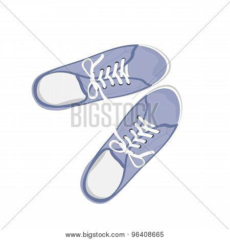 Blue sport gumshoes