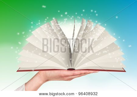 Colorful open book