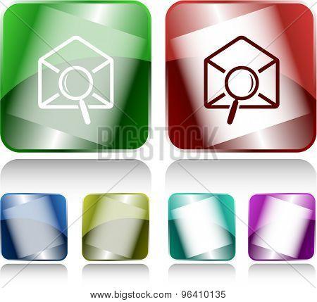mail find. Internet buttons. Vector illustration.