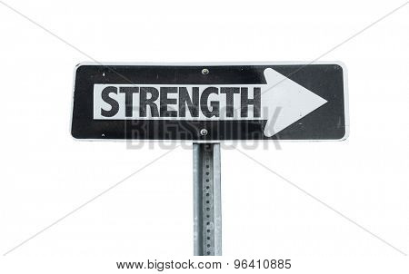 Strength direction sign isolated on white