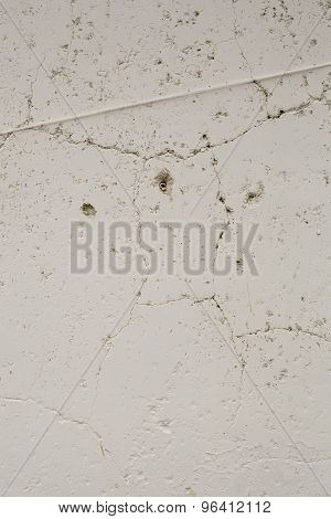 White Cement Cracked