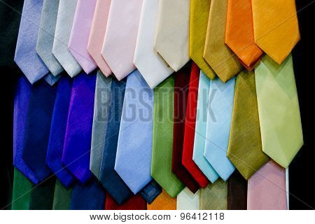 Display With Dotted Necktie