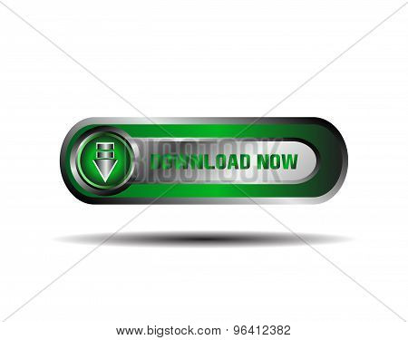 Vector download now. modern green download now sign