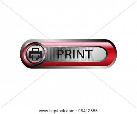 Vector printer icon. Print button sign vector