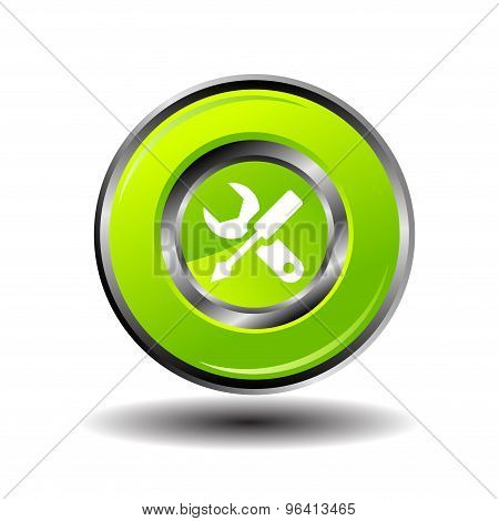 Work tool button icon vector