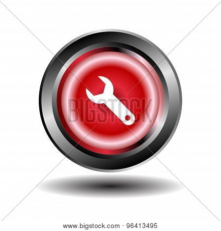 Wrench Icon. Wrench and screwdriver icon vector