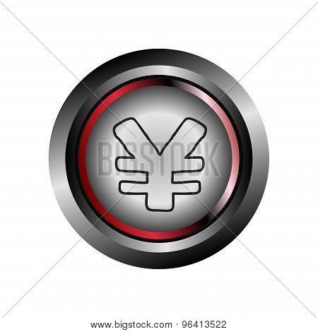 Yen icon Vector - Yen sign internet icon