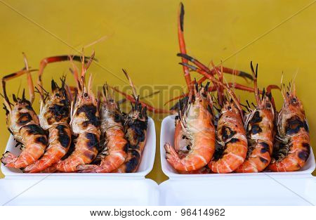 Grilled King Prawns In the restaurants