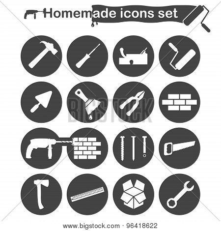Homemade Construction And Renovation Icons Set
