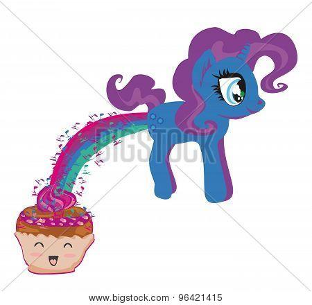 Cute Unicorn And Funny Muffin